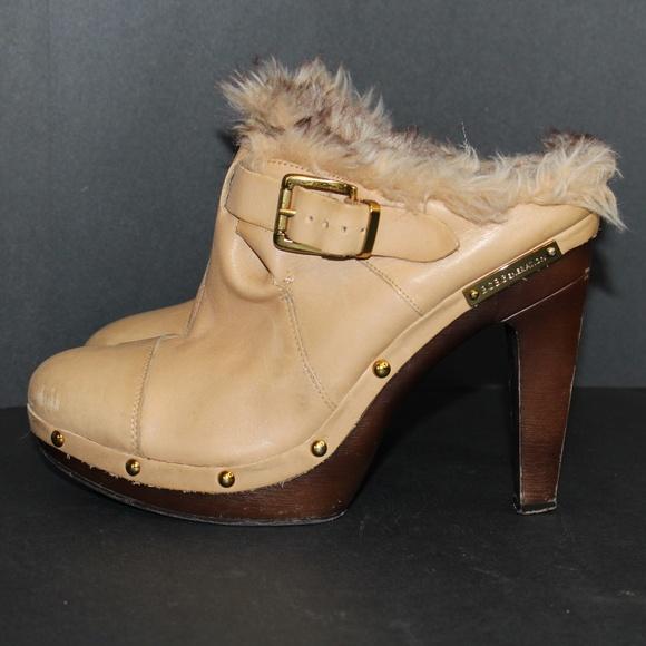 604eca80bdfea BCBGeneration High Heel Leather Platform Clogs 9